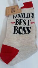 World's Best Boss Socks Men's Size 10-13 Multicolored