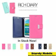 Mercury Goospery Rich Diary Wallet Leather Case Cover Samsung Galaxy S7 edge S8+