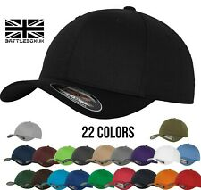 FlexFit Yupoong Fitted Baseball Cap Sports Sun Hat Retro Curved Peak 22 Colours