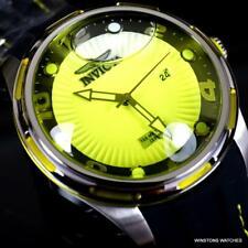 Invicta Lupah Diver Liquid Dial Yellow 48mm Silicone Strap Lava Lamp Watch New