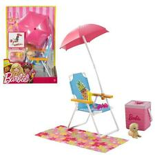 Barbie - Meubles d'extérieur - Outdoor Voyage de Plage Set & Accessoires