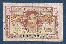 FRANCE - BILLET du TRESOR FRANCAIS - 5 Frs Fay.VF 29.1 de 1947 en TB A.0299967