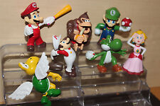 Cake Toppers 7 pc Set Super Mario Action Figures 4-7 cm