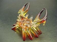 Glass CRAB, Brown & Yellow Glass Body, Legs and Claws, Glass Ornament, Gift
