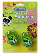 Dr. Tungs Products Snap-On Toothbrush Sanitizer for Kids, 2 pieces