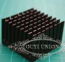 Black Aluminum Heat Sink Chip Integrated LED Power Transistor 37x37x24mm 5pcs