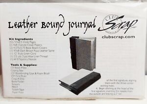 CLUB SCRAP LEATHER BOUND JOURNAL KIT CRAFTING MAKE YOUR OWN FREE P& P
