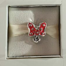 Genuine Sterling Silver PANDORA Disney MINNIE MOUSE BOW Charm 796333EN09 ALE
