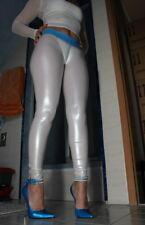 RAR! triallab lucidrubber Booty Cameltoe Leggings Leggings hl5ax Bianco/Blu-M
