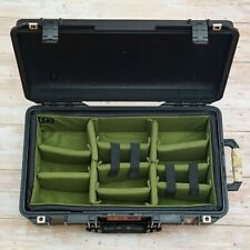 Padded divider fit Pelican1535 peli camera insert Army Green (no Case)A-MoDe