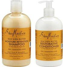 Shea Moisture Raw Shea Butter Restorative Shampoo Conditioner Dry Damaged Heal