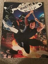 Vintage 2000 JACKIE CHAN GOT MILK? Poster Print Ad ACTION MOVIE RARE