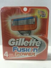 Gillette Fusion Power Men Razor Blade Refills 4 Count Factory Sealed