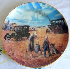 """Bountiful Harvest"" by Emmett Kaye, Farming the Heartland Plate 8-1/8"" (1990)"