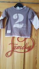 Baby Girls Next Brown Long Sleeved Top Size 6-9 Months