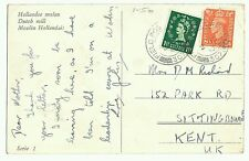 Dutch Windmills, Field Post Office 307 frank 1953, to Sittingbourne, note stamps