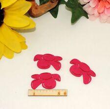 3 Blüten Filz Fuchsie 5cm Frühling Basteln Garten Karten Deko Restposten
