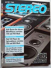 STEREO 7/89 KRELL KSP 7 B,KSA 100 E,AUDIO EXCLUSIV P 3S,AUDIOSTATIC ES 300 R,B&M