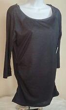 NWT NEW YORK & Co. Women's Dark Grey Shirt Top Blouse Size Medium