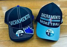 Sacramento Kings NBA Official Team Adidas Flex Brim Hats Youth Boys [Lot of 2]