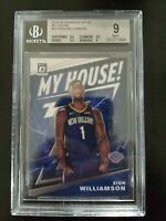 ZION WILLIAMSON 2019 DONRUSS OPTIC MY HOUSE #15 ROOKIE CARD BGS 9 MINT