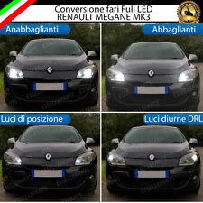 CONVERSIONE FARI FULL LED RENAULT MEGANE MK3 16000 LUMEN BIANCO GHIACCIO
