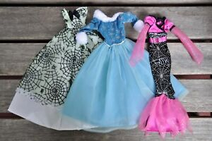 Lot of 3 Clothes Holiday Christmas Halloween Gowns for Barbie Family Dolls