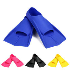 1 PAIR SWIMMING FLIPPERS DIVING SNORKELING SURFING SWIM SILICONE FOOT FINS FILL