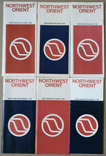 Northwest Orient Airlines timetable lot every issue 1984 good condition [0097]