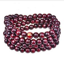 108 Sandalwood Buddhist Buddha 8mm Mala Prayer Bead Stretch Necklace Bracelet