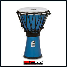 TOCA 7″ FREESTYLE COLORSOUND DJEMBE HAND DRUM – METALLIC BLUE FINISH