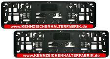 2 Stück Kennzeichenhalter 46cm Leiste ROT mit WUNSCHTEXT Nummernschildhalter 460