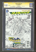 Justice League #19 1:100 Sketch Variant CGC 9.8 SS Geoff Johns NM+ / M