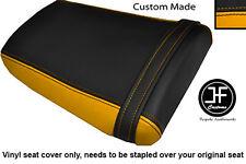 BLACK & YELLOW VINYL CUSTOM FOR HONDA CBR 600 RR3 RR4 03-04 REAR SEAT COVER ONLY