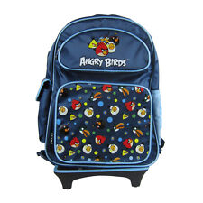 Brand New Angry Birds Blue Travel School Rolling Bag Backpack Back Pack 16""