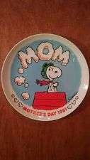 """Mission for Mom"" Peanuts Mother's Day 1981 collector plate"