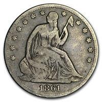 1861-O Liberty Seated Half Dollar Fine - SKU#177904