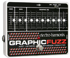 EHX Electro-Harmonix Graphic Fuzz EQ/Distortion/Sustainer Guitar Effects Pedal