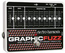 EHX Electro-Harmonix Graphic Fuzz EQ/Distortion/Sustainer Guitar Effects Pedal