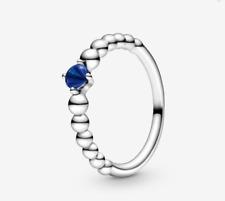 PANDORA Sea Blue Beaded Ring 198598C12 Brand New!