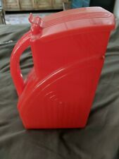 Vintage Red plastic pitcher