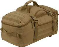 Coyote Brown Tactical Mission Duffle Carry Bag Multi Convertible Backpack