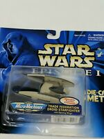 Star Wars Die Cast Metal Vehicle Ship Trade Federation Droid Starfighter