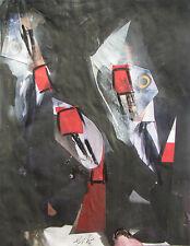Sergio DANGELO (Milano 1932) SPY Tecnica Mista e collage cm 27x21 surrealista