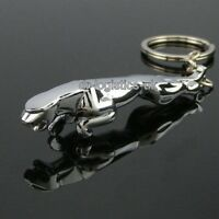 2 x Finest Quality Jaguar Metal Chrome Car Key Ring Fob Keyring Gift UK SELLER