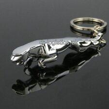 2 x Finest Quality Jaguar Metal Chrome Car Key Ring Fob Keyring Gift UK SELLER