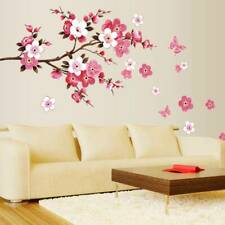 Large Cherry Blossom Flower Butterfly Tree Wall Stickers Art Decal Chic Decor