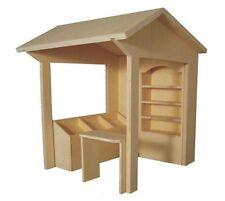 1:12 Deluxe Market Stall Kit Set, Flat Pack,Dolls House Miniature Shop