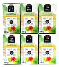 6 Celestial Seasonings Tea Well Organic Hibiscus Lime Non GMO Verified Organic