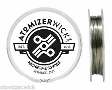 Nichrome 80 Series 26 Gauge wire 0.40mm 2.657 Ohms/ft Resistance, 25ft spool